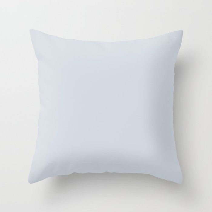 Pale Blue Gray Solid Color Pairs Valspars 2022 Color of the Year Orchid Ash 4003-3B Throw Pillow