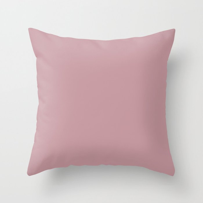 Pastel Pink Solid Hue - 2022 Color - Shade Pairs Dunn and Edwards Rose Meadow DE6025 Throw Pillow