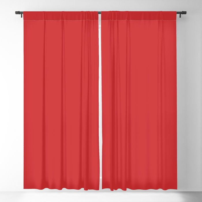 Scarlet Red Solid Color 2022 Spring/Summer Trending Hue Coloro Red Glow 013-43-37 Blackout Curtain