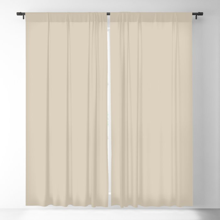 Subtle Sand Tone Beige Solid Color Pairs Behr 2022 Trending Hue - Shade - Studio Clay MQ2-27 Blackout Curtain