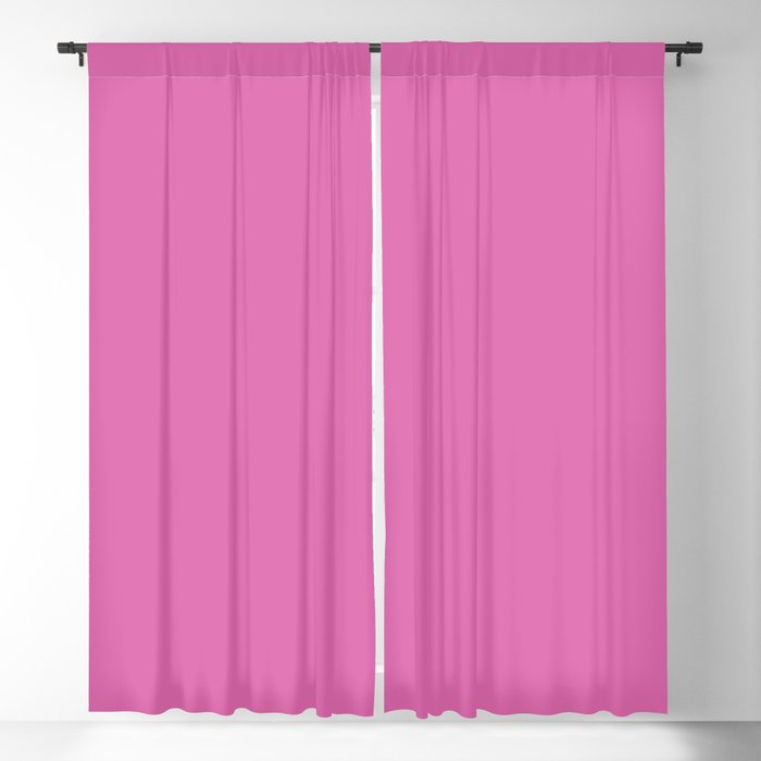 Vivid Pink Purple Solid Color 2022 - 2023 S/S Trending Hue Coloro Fuchsia Punch 8321 C Blackout Curtain