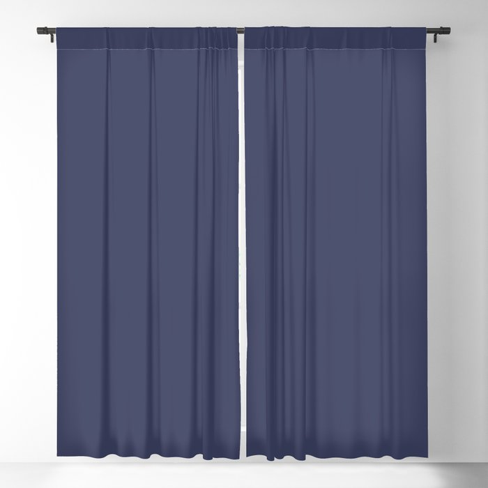 Dark Blue Solid Hue - 2022 Color - Shade Dunn and Edwards Singing the Blues DET576 Blackout Curtain