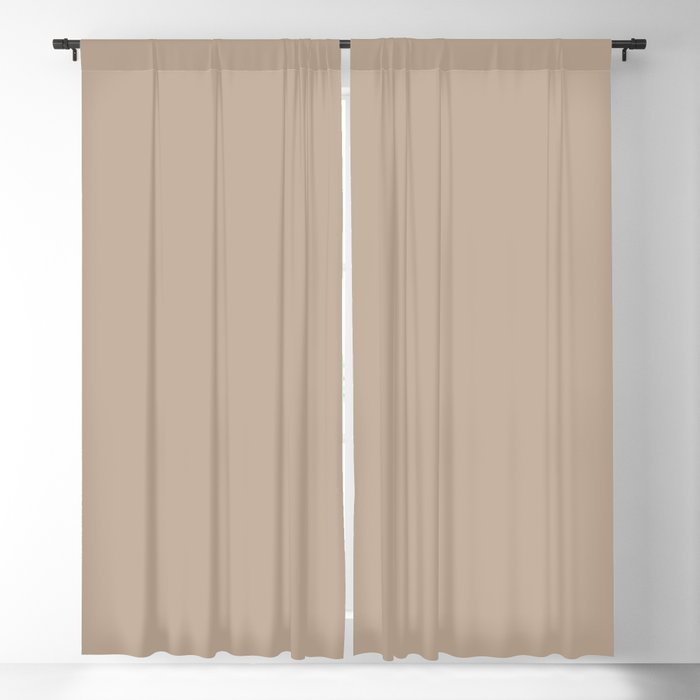 Medium Brown Solid Hue - 2022 Color - Shade Pairs Dunn and Edwards Trail Dust DE6123 Blackout Curtain