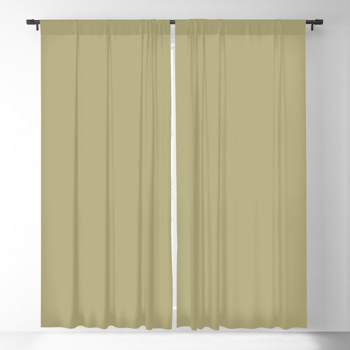 Medium Pale Green Solid Hue - 2022 Color - Shade Pairs Dunn and Edwards Even Growth DE5494 Blackout Curtain