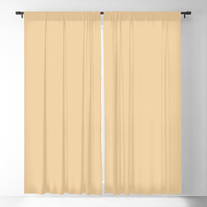Pale Yellow Solid Color 2022 Trending Hue Sherwin Williams Peace Yellow SW 2857 Blackout Curtain