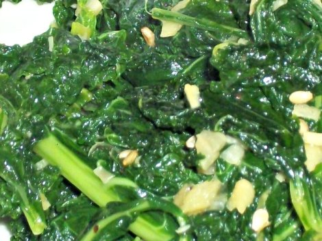 Garlic and Ginger Kale with Sesame Seeds
