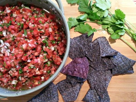 Pico de Gallo with Blue Corn Tortilla Chips