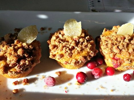 Cranberry and butternut squash muffins