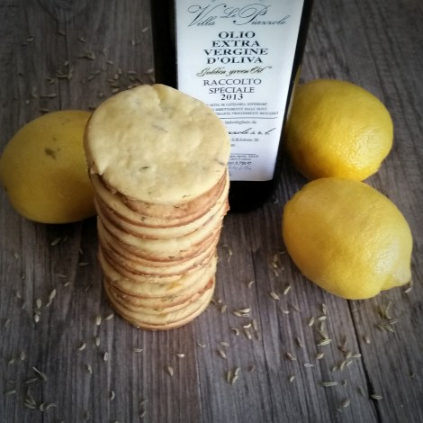 Lemon, Fennel and Olive Oil Shortbread Cookies