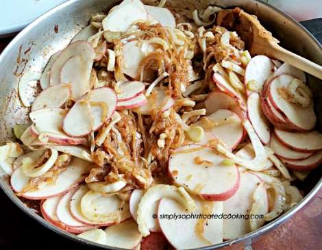 Caramelized Onions in the FennelPotato Gratin