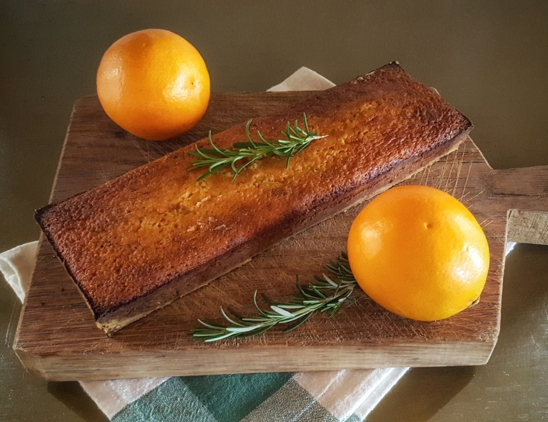 Orange Rosemary Olive Oil Cake