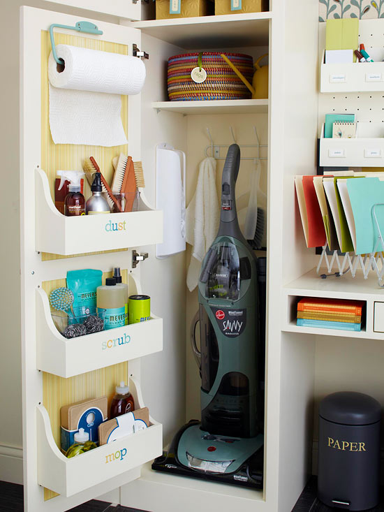Clever Cleaning Closet // 5 Spaces you are Probably Not Maximizing // simplyspaced.com