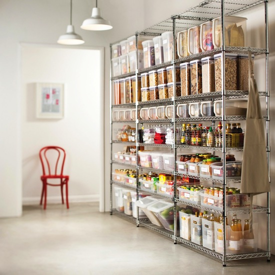 Pantry Perfection // 7 Ways to Organize Using Wire Shelving // simplyspaced.com