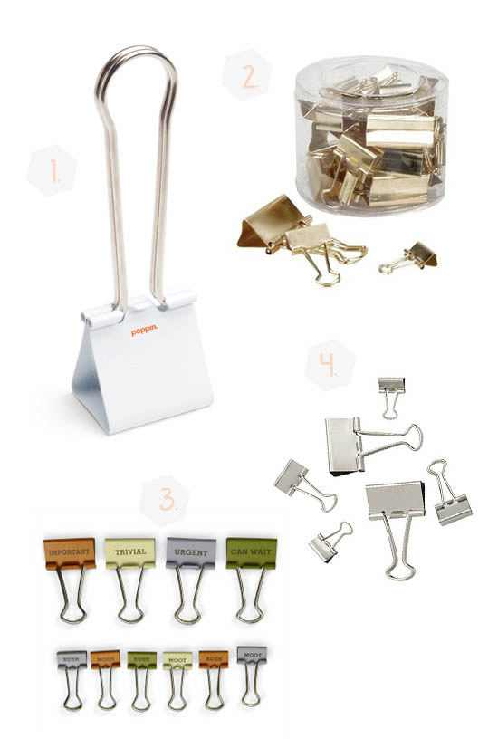 Binder Clips In All Shapes and Sizes // Binder Blips Repurposed Around The House// simplyspaced.com