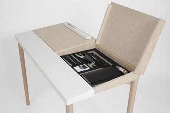 Slope Desk Designed by Oslo-Based // Double Take: Hidden Storage // simplyspaced.com