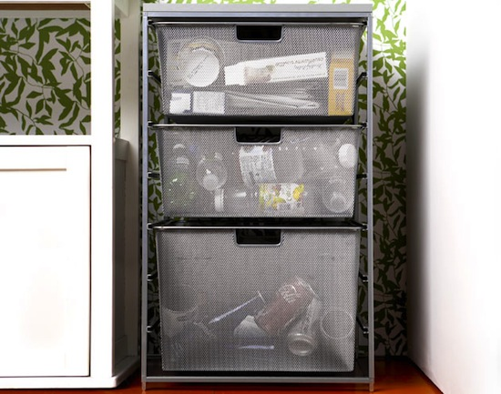 Use In-Home Recycling Center for Recyclables // How to Organize Your Recyclables // simplyspaced.com