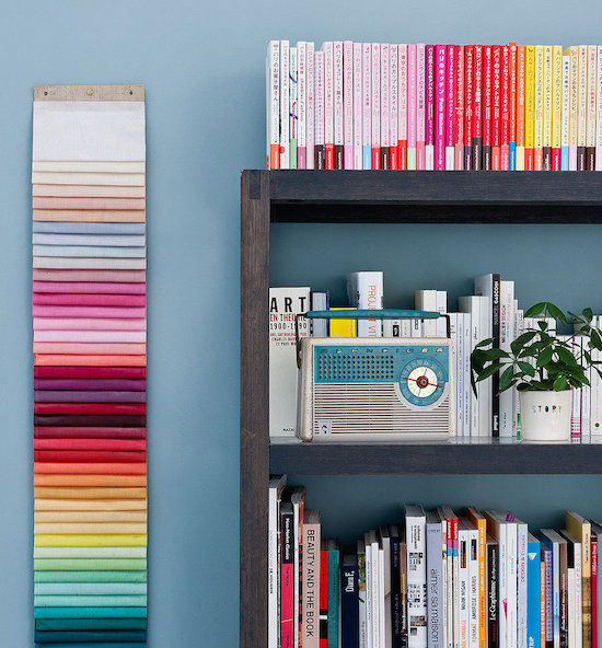 Rainbow Categories // Books: 5 Ways to Organize Your Library // simplyspaced.com