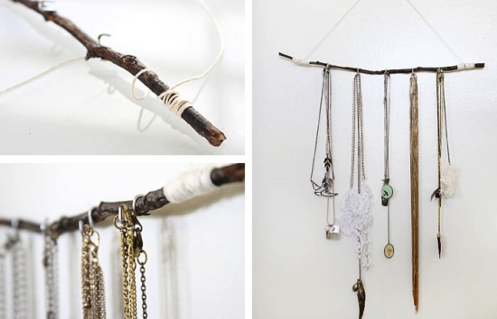 S-Hooks for Necklaces and Bracelets // 14 ways to Organize with S-Hooks // simplyspaced.com
