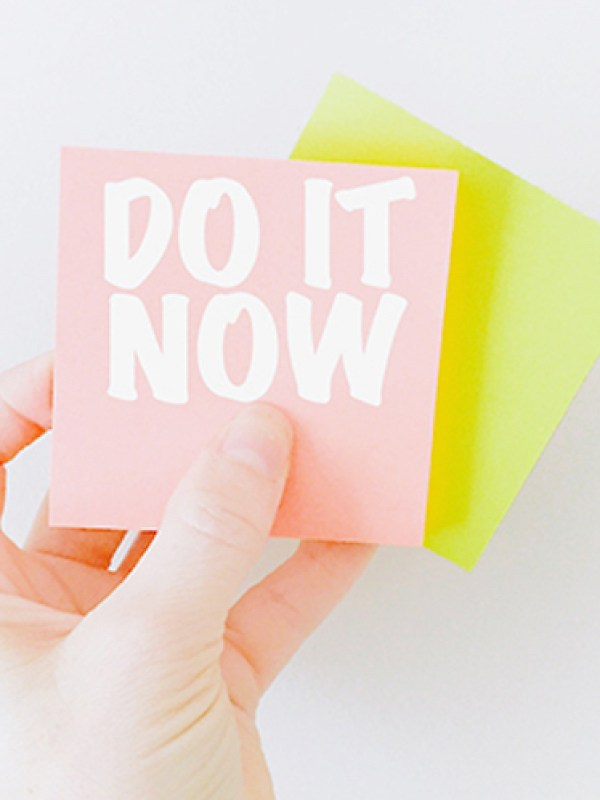 Do It Now // 15 Things Organized People Do More Of // simplyspaced.com