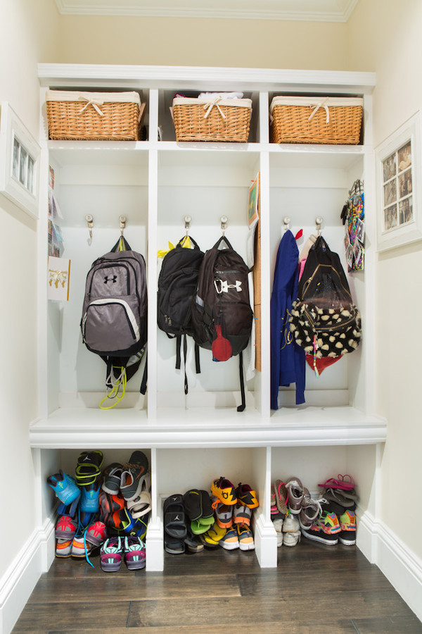 Backpack Hooks // 7 Strategies for Staying Organized for Back to School // simplyspaced.com