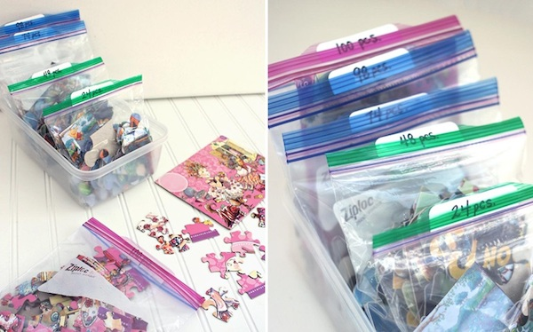 Kids Toy Organizing // How to Organize your Entire Life with Ziploc Bags // #kids #toys #organizing // simplyspaced.com