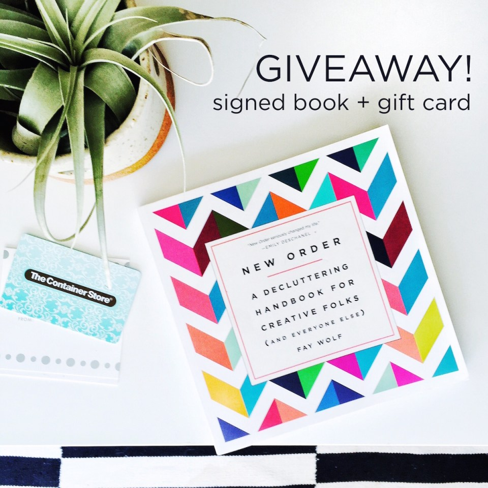 Signed book and the container store gift card // giveaway