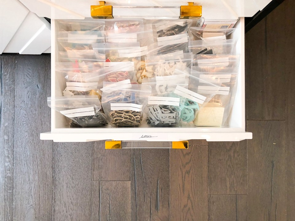 Scrapbooker Craft Room Organizing