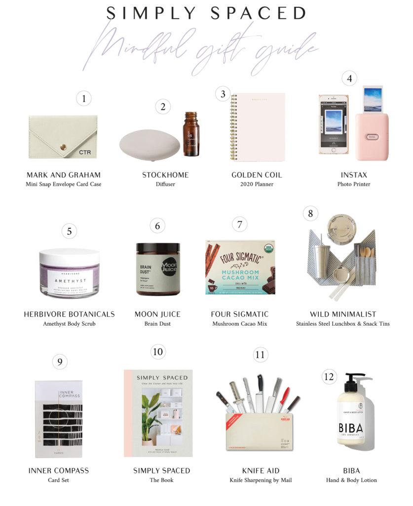 The Simply Spaced Mindful Gift Guide