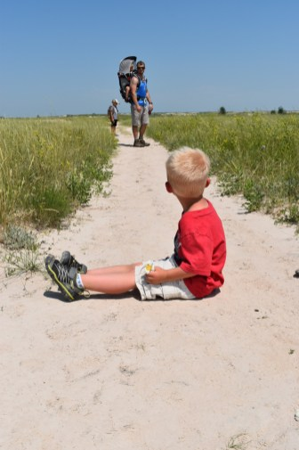 Jase's temperament really showed during this hike. He wanted to play in the sand for a bit and rest.