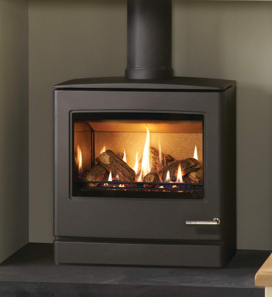 Yeoman Cl8 Natural Gas Stove Balanced Flue Rear Exit In