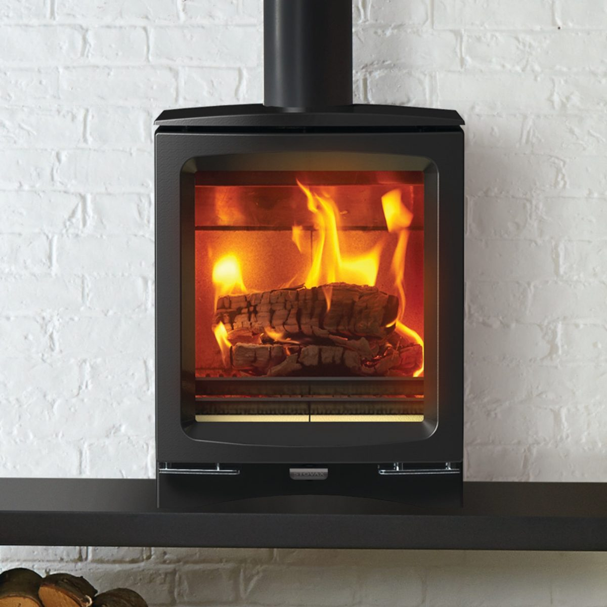 Stovax Vogue Midi Wood Burning Eco Stove With Cast Iron