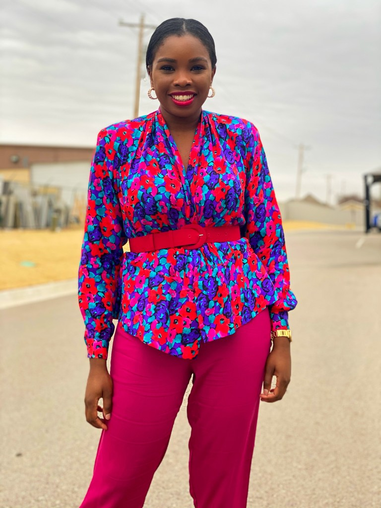 Valentine's day colorful blouse