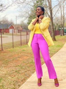 Colourful combination outfits