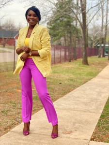 Colourful spring outfits