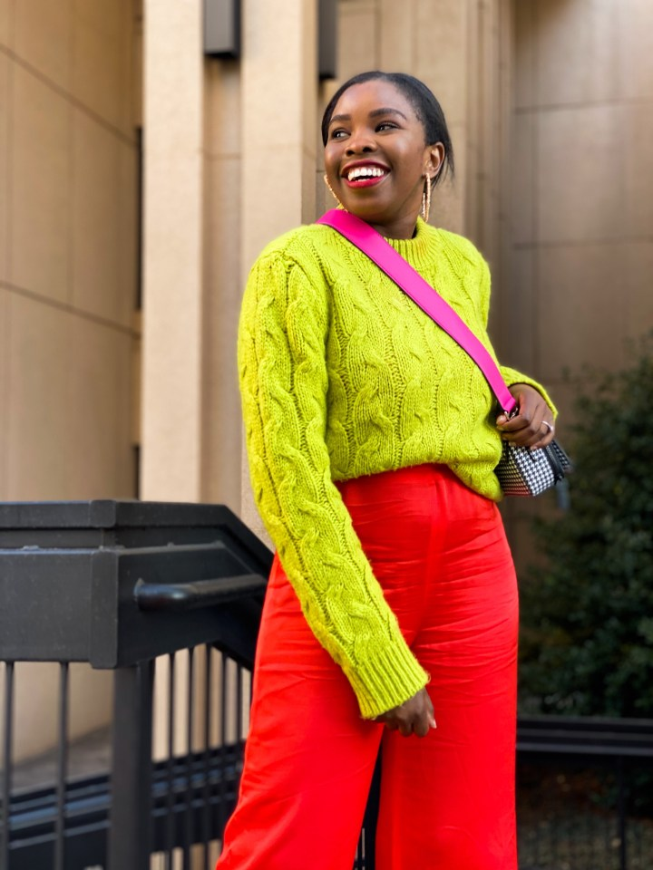 colorful outfit combination