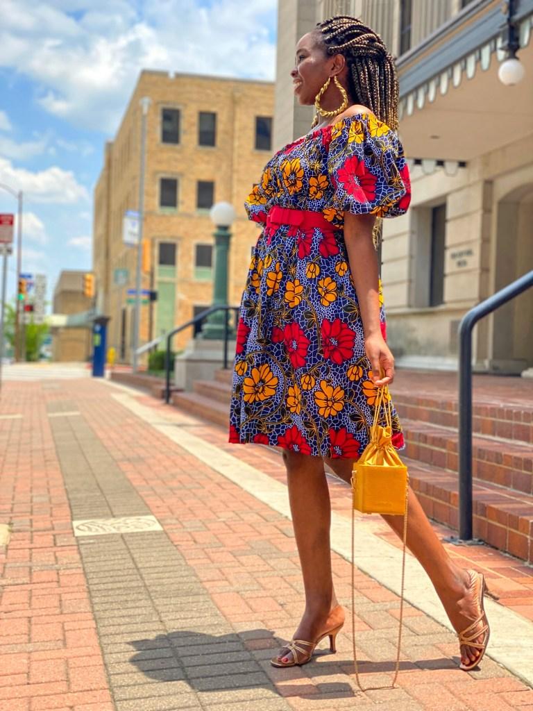 African print summer dresses; African Women Fashion