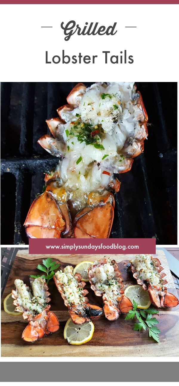 Grilled Lobster tails pin