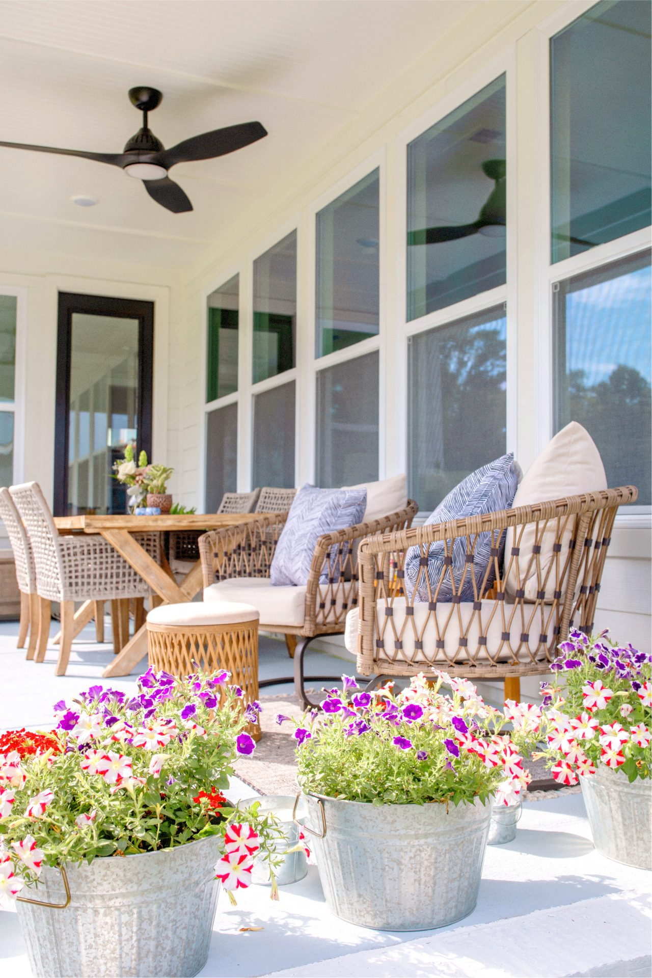 easy diy painting the back patio