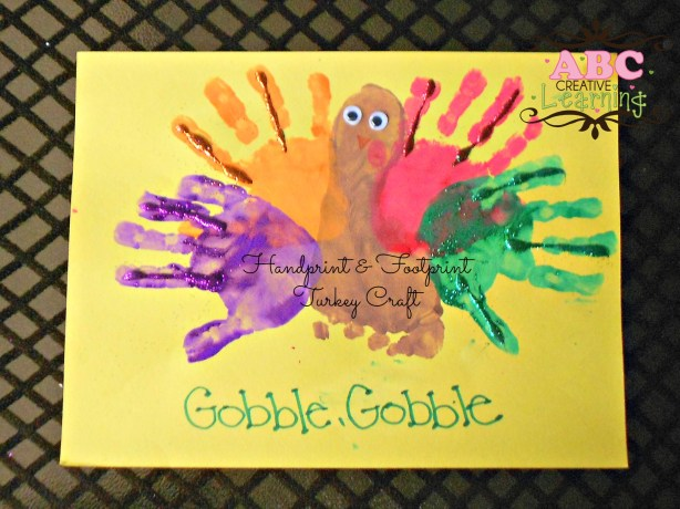 Handprint & Footprint Turkey Kids Crafts