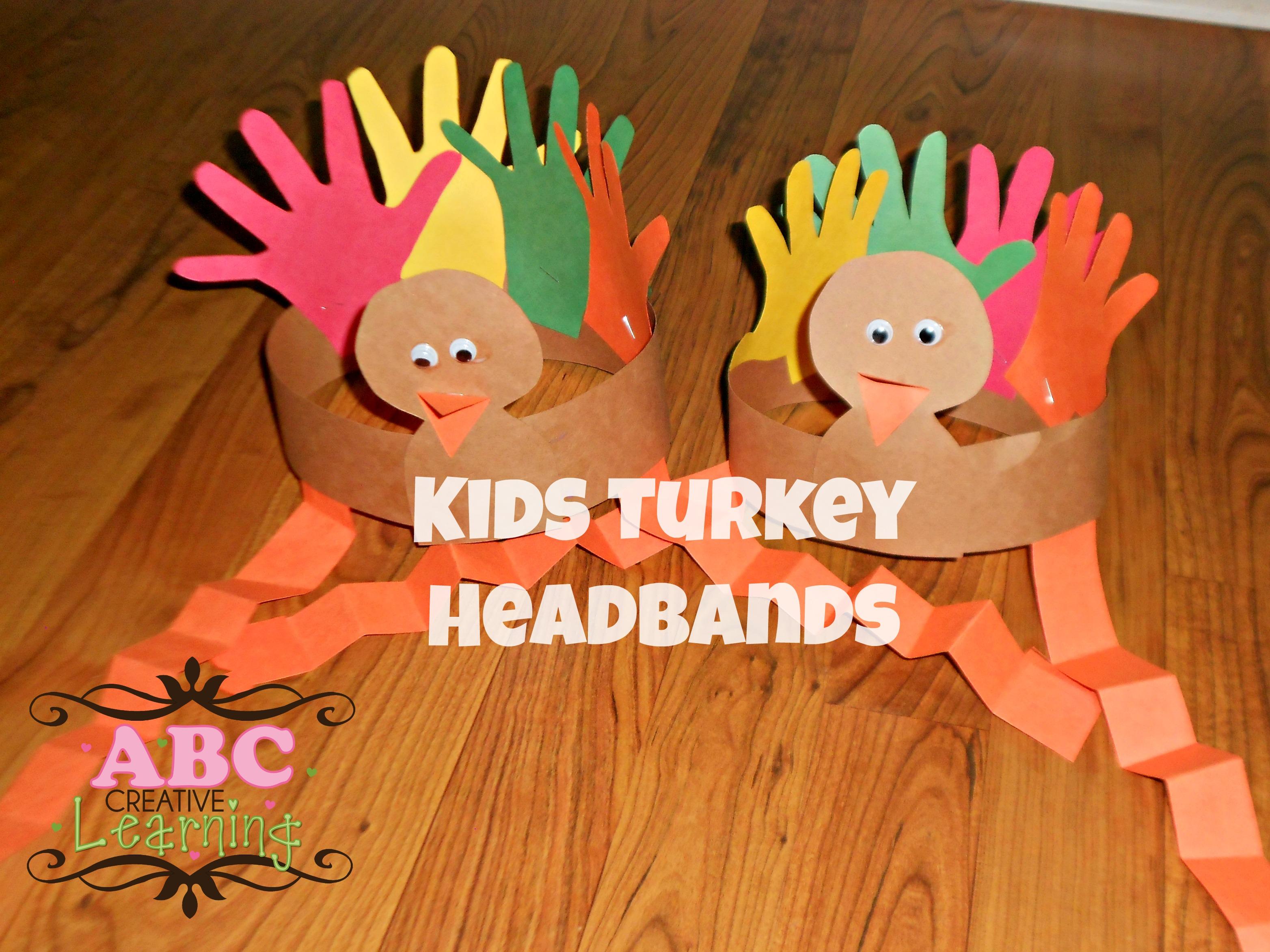 Turkey Headband Craft For Kids