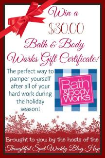 Bath and Body Gift Card Giveaway