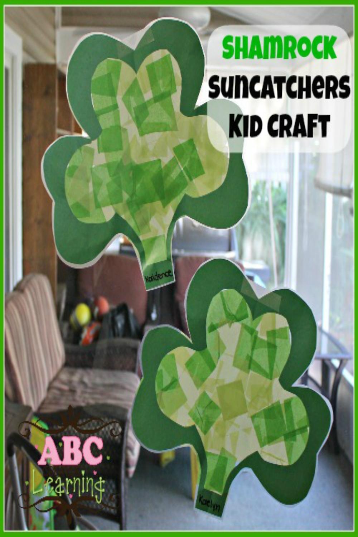 Shamrock-Suncatchers-Kid-Crafts