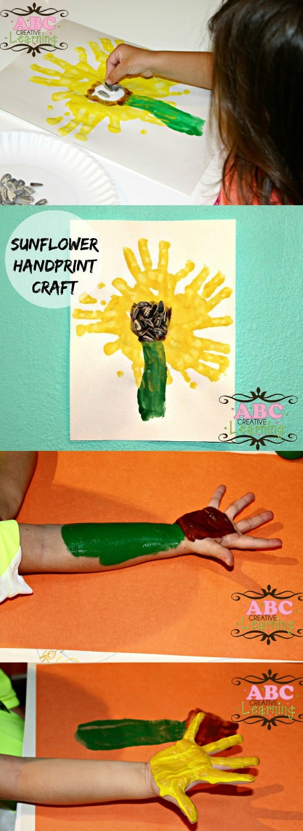 Sunflower Handprint Craft