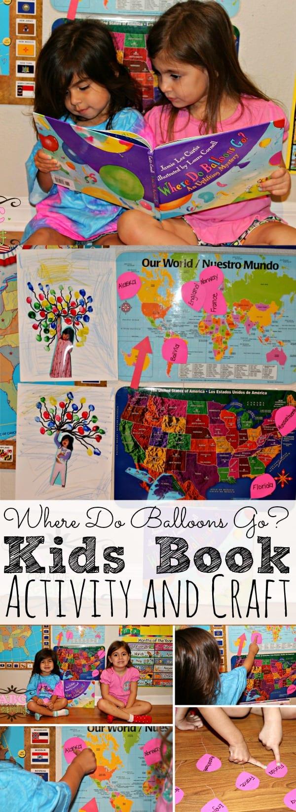Where Do Balloons Go? Book Activity - simplytodaylife.com