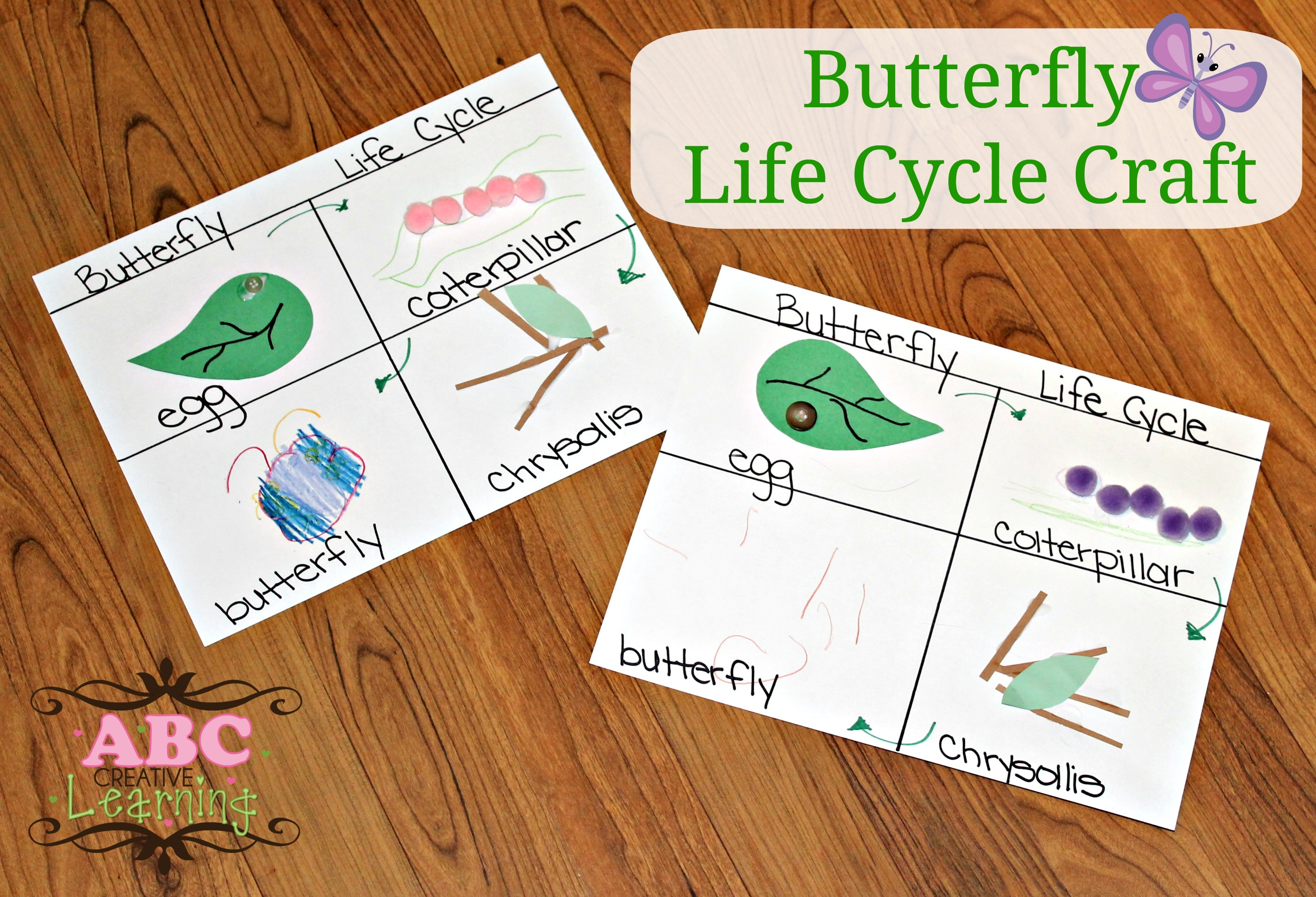 Butterfly Life Cycle Craft Homeschooling Lesson