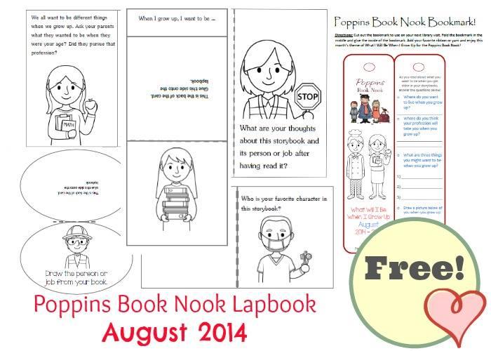Poppins Book Nook Lapbook August 2014