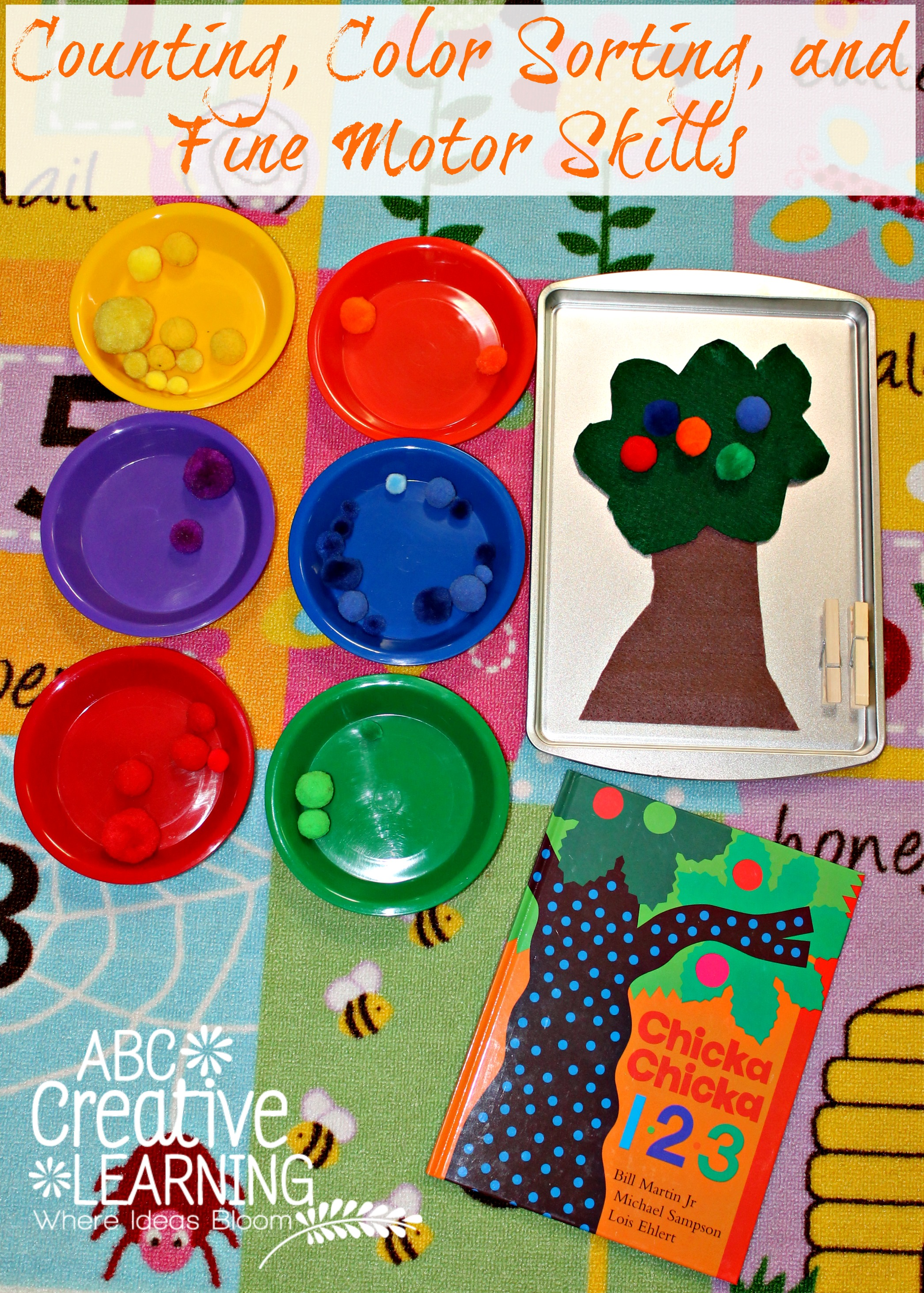 Chicka Chicka 123 Counting Color Sorting And Some Fine Motor Skills