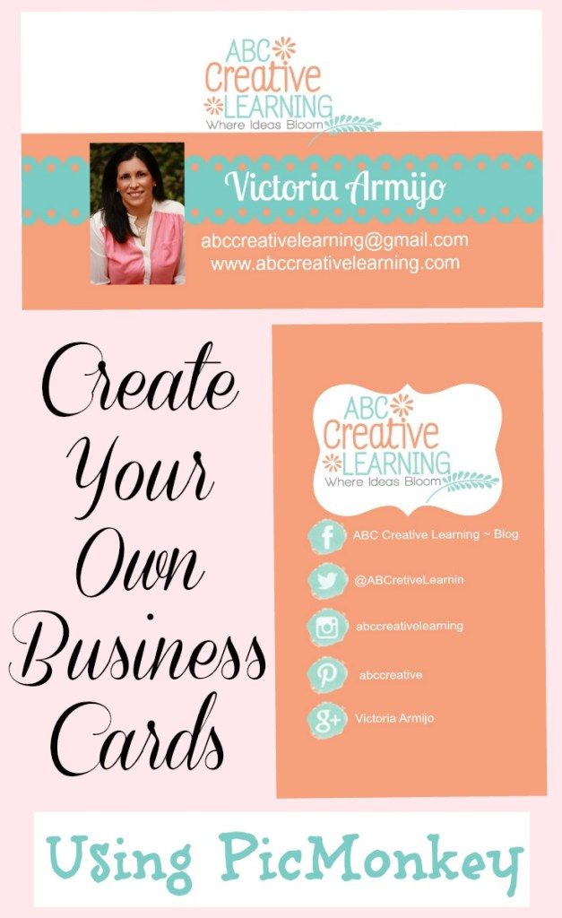 Create your own business cards using picmonkey