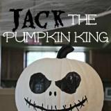 No Carve Jack Skellington Pumpkin Craft
