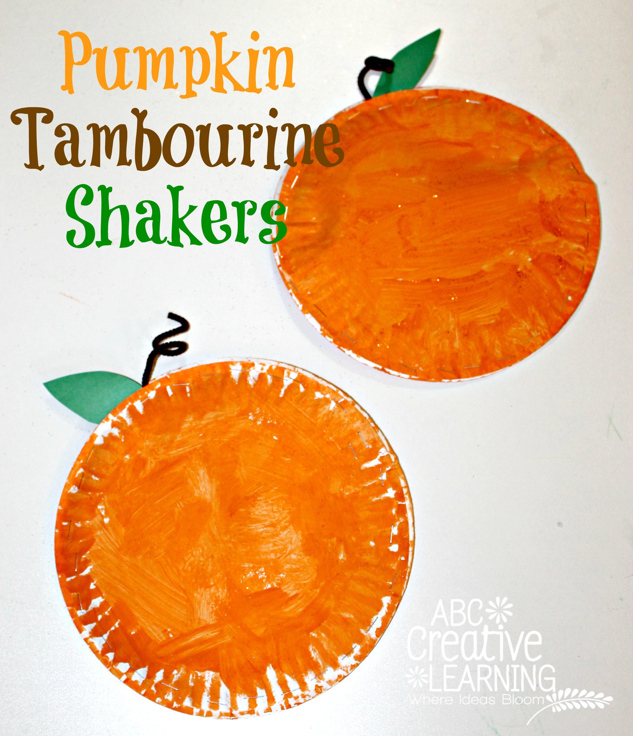 Pumpkin Tambourine Shakers